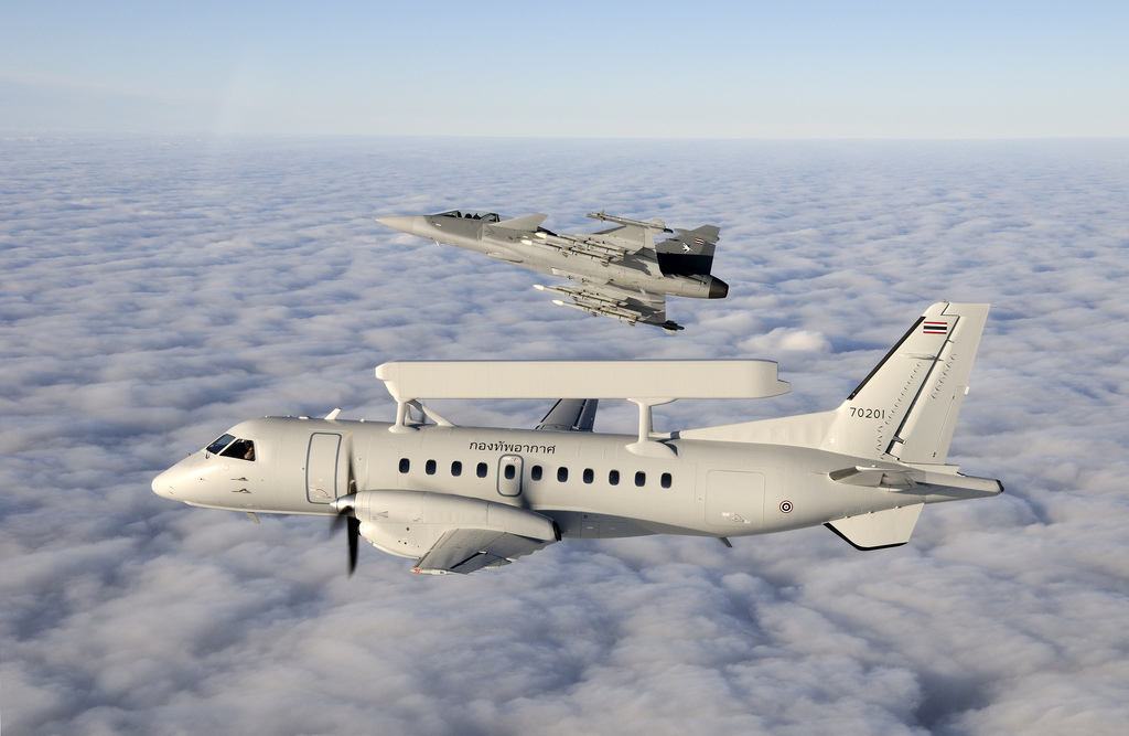 Royal Thai Airforce Gripen and Saab 340 AEW