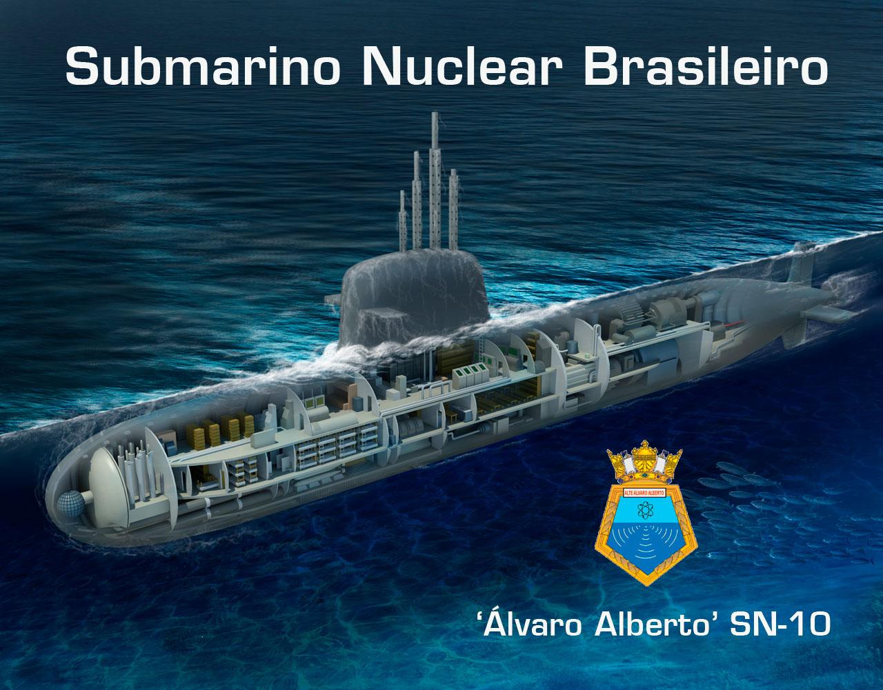 SNB Álvaro Alberto SN-10 - Imagem editada a partir de original de Rubem Paiva