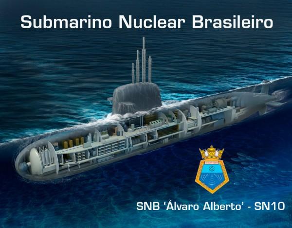SNB Álvaro Alberto SN-10 - Imagem criada por Rubens Paiva e editada pelo DAN