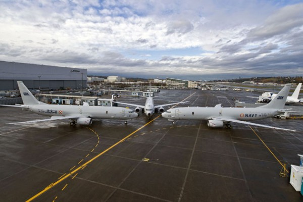 P-8I 3 Plane Flight line Line up