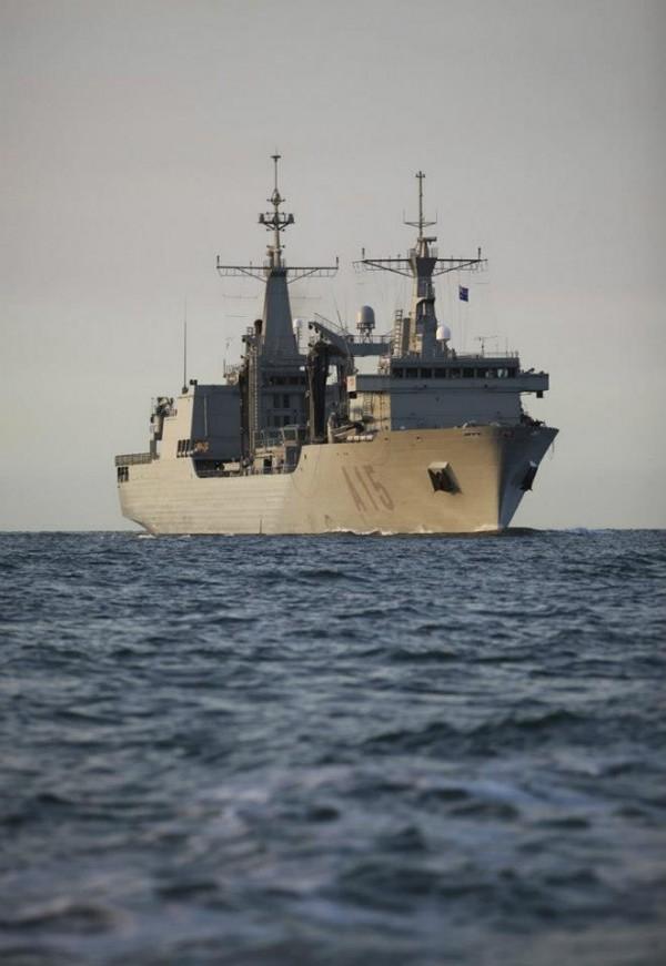 Spanish Armada Ship Cantabria sailing in Port Phillip Bay
