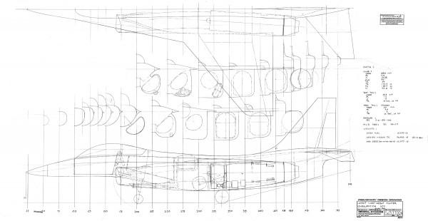 Configuração 503 que levou aos estudos do YF-16 para a competição da aeronave de ataque leve da USAF nos anos 70