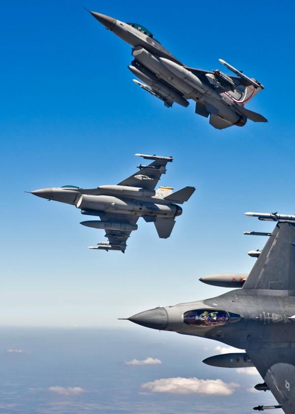3 F-16 Quebrando formação, Fort Worth, Texas