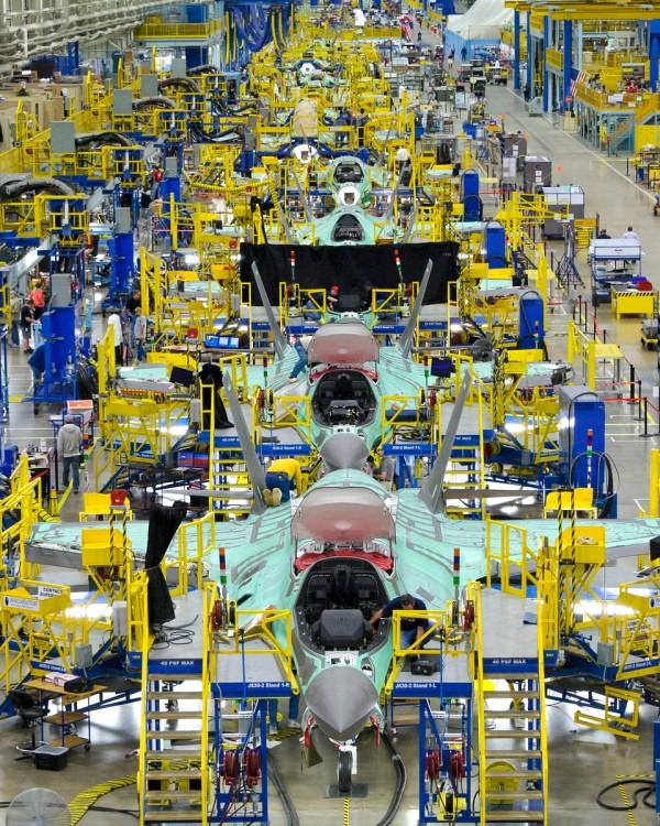 Linha de Produção do F-35, Fort Worth, Texas.