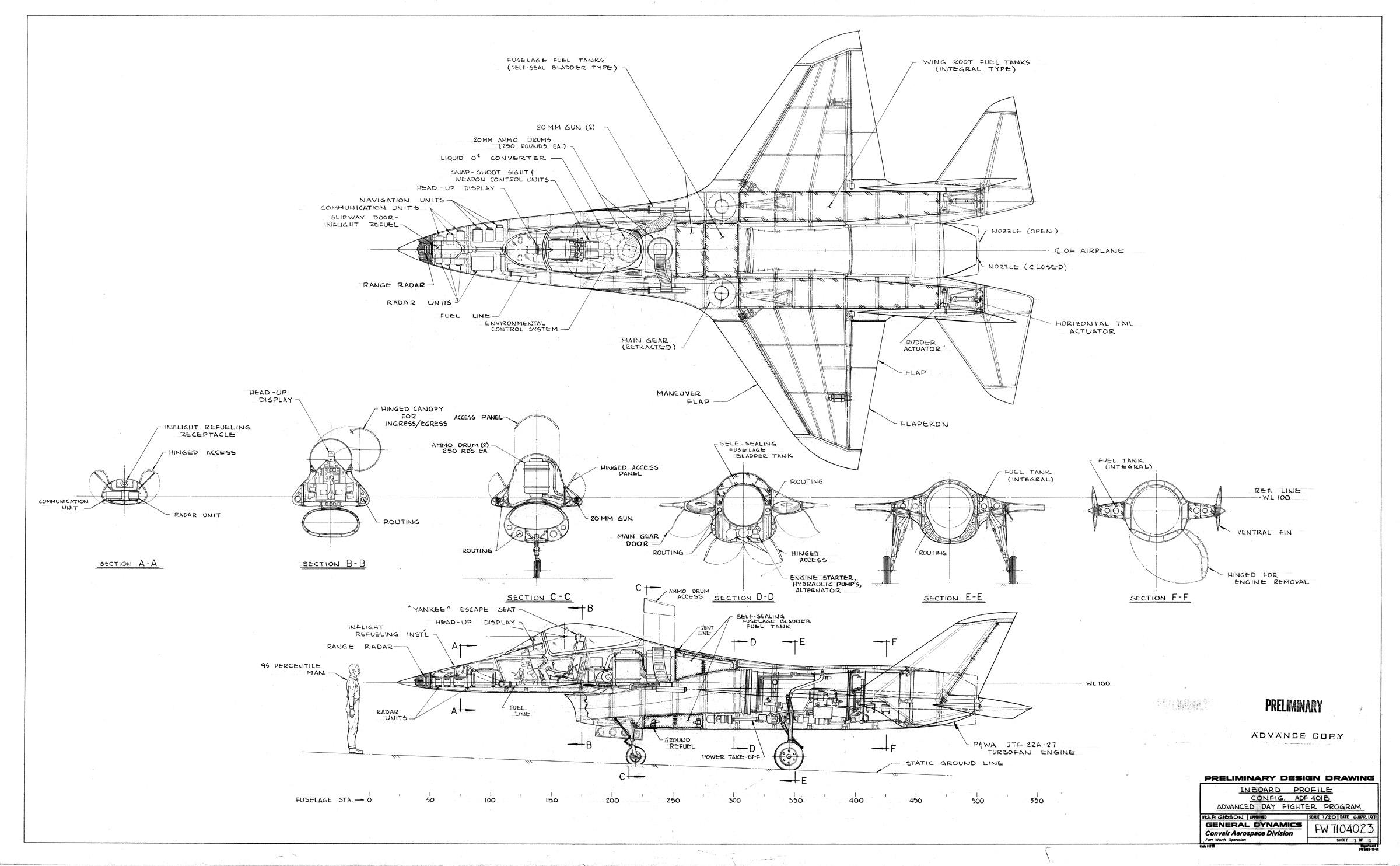 Uma configuração alternativa para o projeto do Caça Leve da USAF nos anos 70