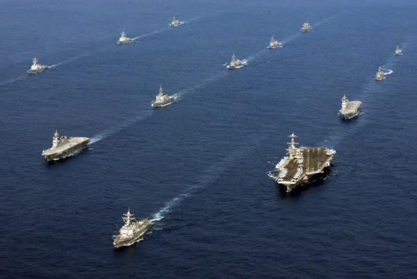 Twenty-six ships from the U.S. Navy and the Japan Maritime Self-Defense Force are underway together after the conclusion of exercise Keen Sword 2013.
