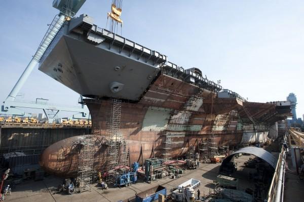USS Gerald R. Ford CVN 78 Upper Bow Lift