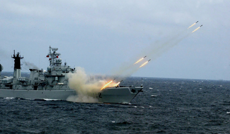 SINO-SOVIET JOINT NAVAL EXERCISE OFF SHANDONG PENINSULA
