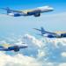 Representação artística dos 3 novos E-Jet E2