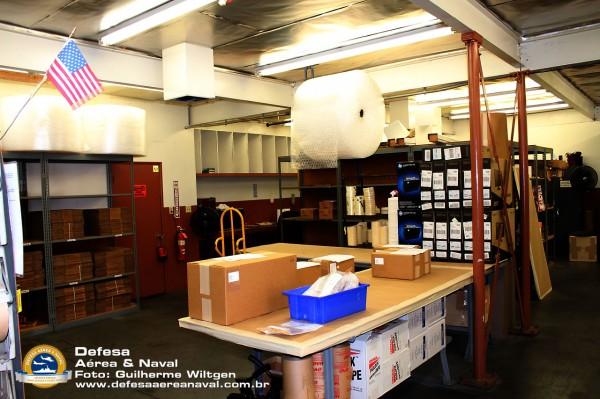 Setor de embalagem e despacho de material