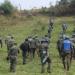 Soldados da ONU inspecionaram instalações de defesa na montanha de Muningi.