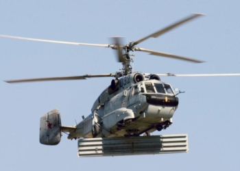 Foto do KA-31 equipado com a antena RTK