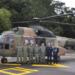 Tripulação que acompanha o Pontífice nos deslocamentos de helicóptero Sgt Lamego/BAAF