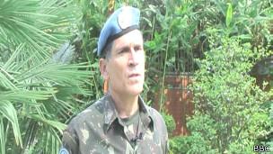 O general brasileiro Carlos Alberto dos Santos Cruz, diz que proteção de civis e de pessoal da ONU é prioridade da tropa internacional