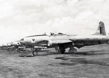Linha de voo dos F-80 do 1º/4º GAv.