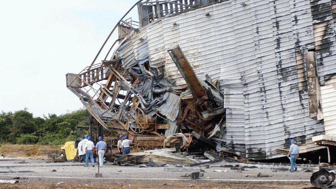 Torre de lançamento - acidente