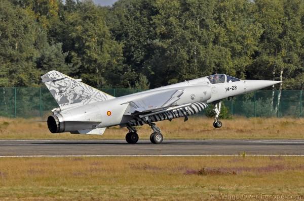 Mirage F1 Spanish Air Force (Foto Kleine Brogel)
