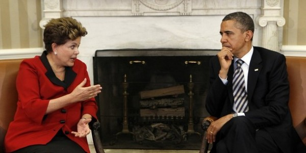 U.S. President Obama meets with Brazil President Rousseff in the Oval Office of the White House in Washington