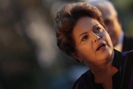 A presidente da República, Dilma Rousseff, reage durante evento no Palácio da Alvorada