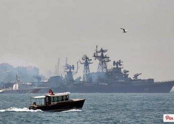 Navios russos estão sendo enviados ao Mar Mediterrâneo em sistema de rodízio Foto: Reuters