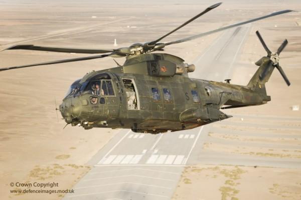 RAF Merlin Helicopter During Exercise Desert Vortex