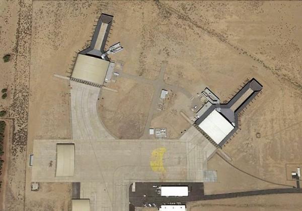 Essa imagem de Palmdale, Calid mostra a área aonde aeronaves 'secretas' são desenvolvidas pela Northrop Grumman.