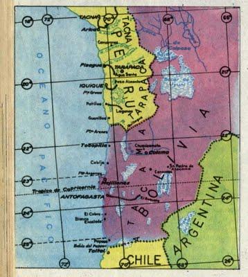 Costa Bolivia antes Guerra del Pacífico