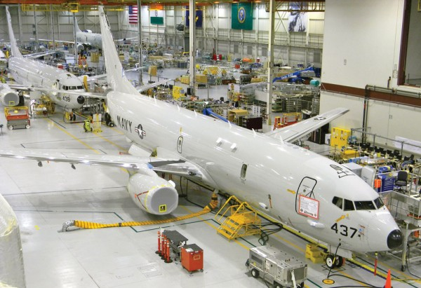 P-8 line Boeing