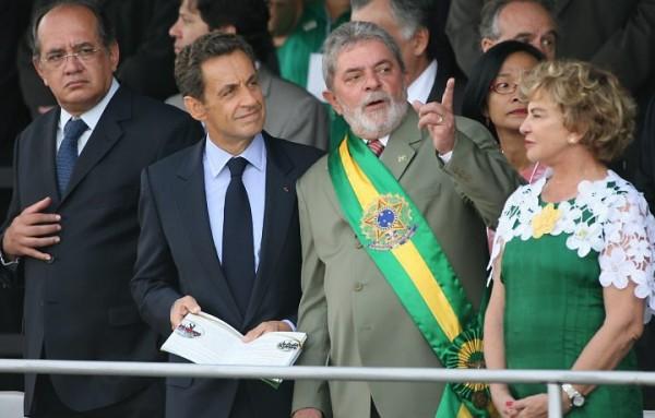 7 de setembro - Lula e Sarkozy