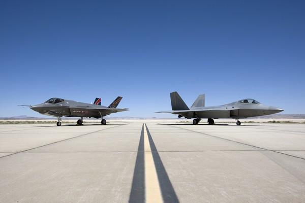 F-22 and F-35 Static Display