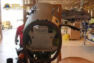 Nariz do 1022 sendo preparado para receber os equipamentos da modernização