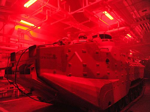 CLAnf pronto para ser lançado pelo navio