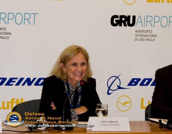 Donna Hrinak, Presidente da Boeing Brasil