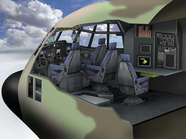 A configuração dos C-130J israelenses inclui cockpit de pilotagem com um terceiro assento necessário durante missões de longa duração (Foto: Lockheed Martin)