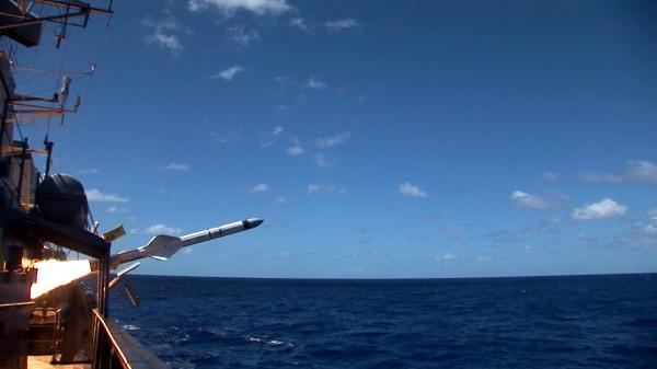 Lançamento do Exocet MM-40 com Cabeça Telemétrica Mectron e Motor-Foguet... (1)