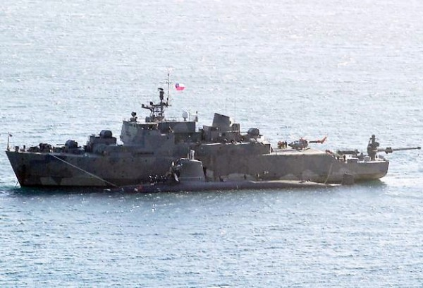 SS-22 Carrera danificado