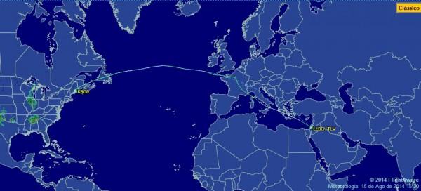 B767-300 FAB ultimo voo até israel