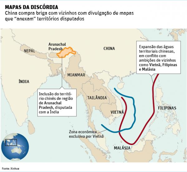 novo mapa da china