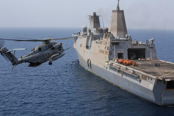 Super Stallion lands aboard Mesa Verde