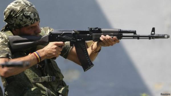 Rafa Munoz Perez, um espanhol servindo com os rebeldes em Donetsk