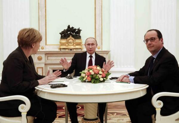 Merkel-Putin-Hollande
