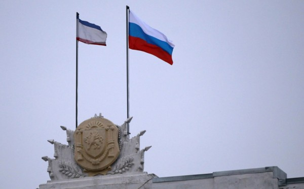 bandeira da crimeia e da russia
