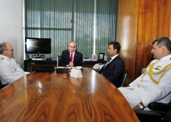 AE Leal Ferreira com o pres. da Câmara dos Deputados- FOTO: Zeca Ribeiro