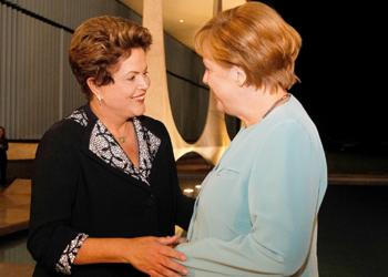 Dilma Rousseff durante jantar de trabalho com a Chanceler da Alemanha, Angela Merkel. Foto: Roberto Stuckert Filho/PR