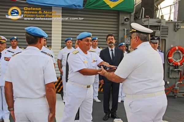 CA Brasil passando a bandeira de comando ao CF Amendoeira