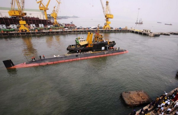 Indian-Navys-First-Scorpene-Class-Sub-Sets-Afloat