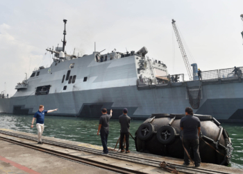 USS Fort Worth (LCS 3) - Foto Bay Ismoyo/AFP