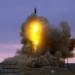 Lançamento de míssil balístico intercontinental a partir do Cosmódromo de Baikonur Foto:Serguêi Kazak/TASS