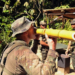 Na primeira fase do estágio, os estrangeiros aprenderam técnicas de sobrevivência na selva, desde como obter comida e água até se proteger de animais peçonhentos. (Foto: Exército Brasileiro)