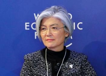 Ministra de Relações Exteriores da Coreia do Sul, Kang Kyung-wha, durante Fórum Econômico Mundial em Davos, na Suíça 25/01/2018 REUTERS/Denis Balibouse